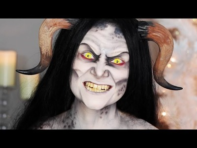 Krampus.Christmas Demon Makeup Tutorial