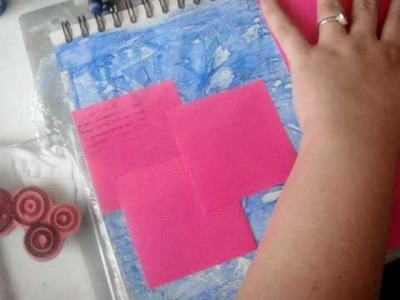 Layered Masked Watercolor Crayon Background- Pt 1