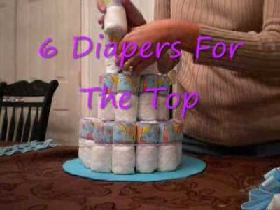 Make Diaper Cake  - With Help From Video + Easy Instructions