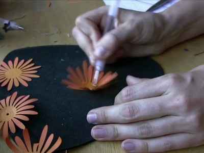 Mary's Corner: Paper Chrysanthemum Pumpkin Project