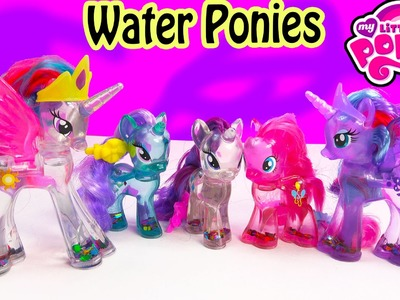 MLP Water Cuties Glitter RARITY Pinkie Pie Luna  Rainbow Shimmer My Little Pony Toy Unboxing