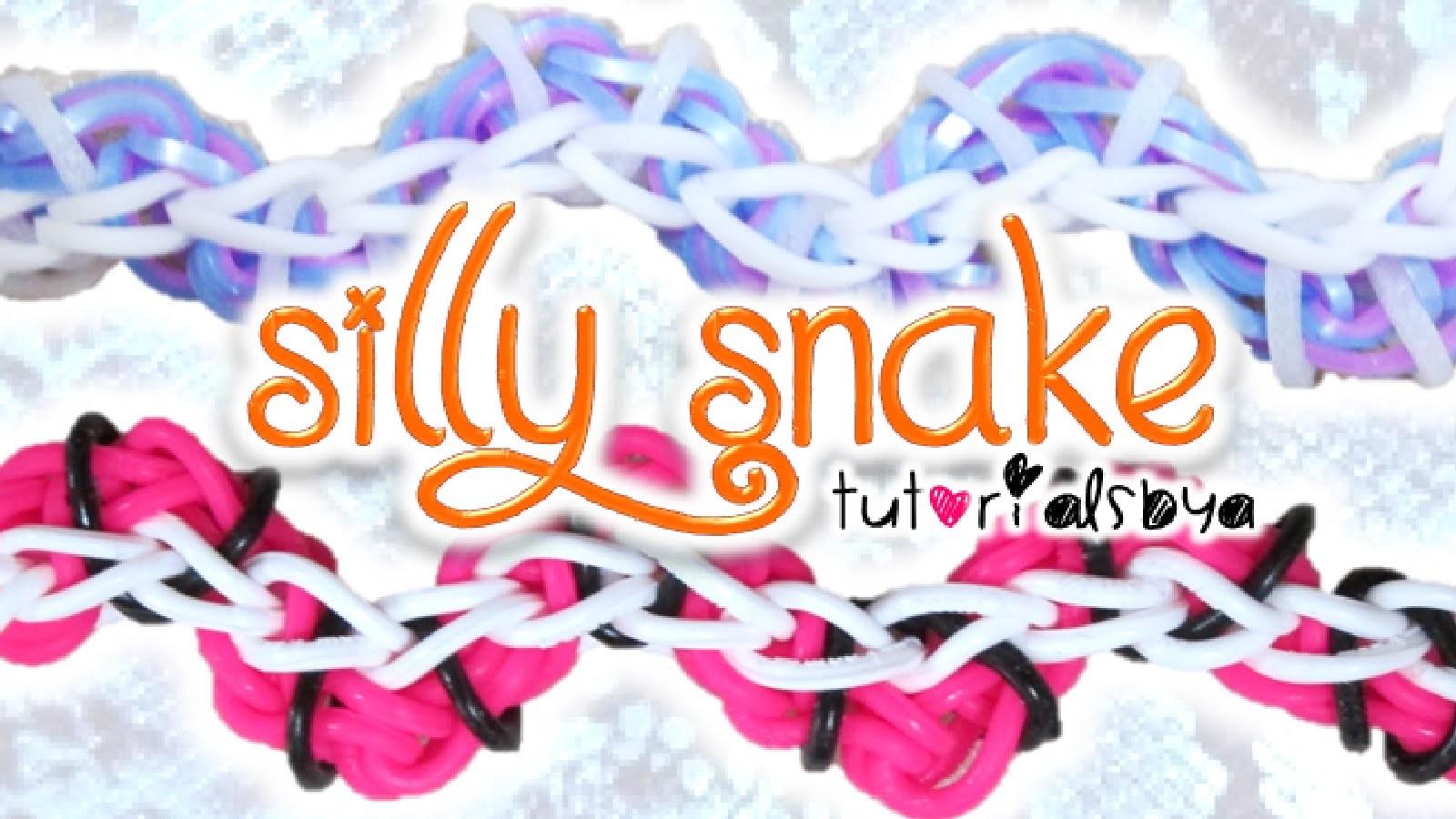 NEW Silly Snake Rainbow Loom Bracelet Tutorial | How To