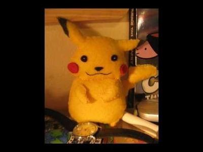 Pikachu Simple Felt Plush Tutorial
