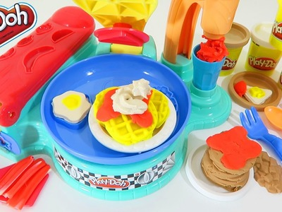 Play Doh Flip 'N Serve Breakfast Playset Play Dough Toy Unboxing & Review!