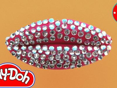Play Doh Glitter Diamond Pink Lip Art Play-Doh Craft N Toys