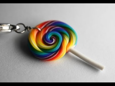 Rainbow Lollipop Tutorial, Miniature Food Tutorial, Polymer Clay Tutorial