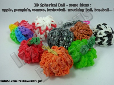 Rainbow Loom 3D Ball Charm Tutorial - gomitas