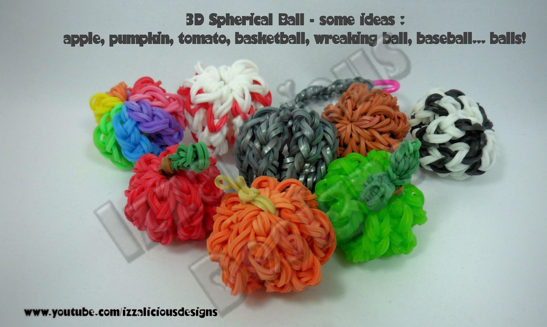 Rainbow Loom 3D Ball Charm Tutorial - gomitas