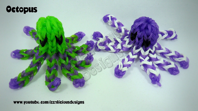 Rainbow Loom Octopus Figure.Charm