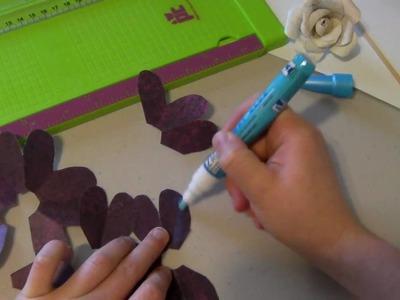 Rose flower tutorial