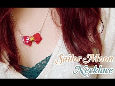☾ Sailor Moon Bow Necklace ☽ with Polymer Clay