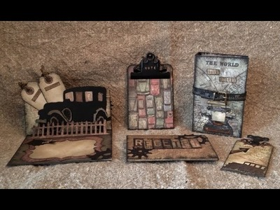 Tim Holtz Journal, Card, Clipboard and Bookmark
