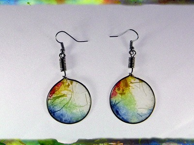 Translucent Rice Paper Hoop Earrings, Jewelry Design