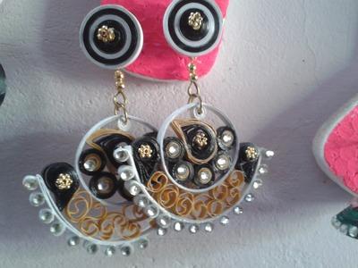 Very simple method in paper jewellery making malayalam tutorial part2