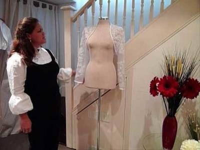 Wedding Accessory: Full Length Sleeves Lace Bolero Jacket by Ring