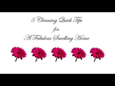 5 Cleaning TIps For A Great Smelling Home