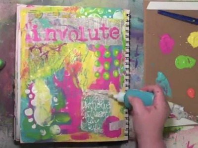 Art journal play inspired by words and an Oops