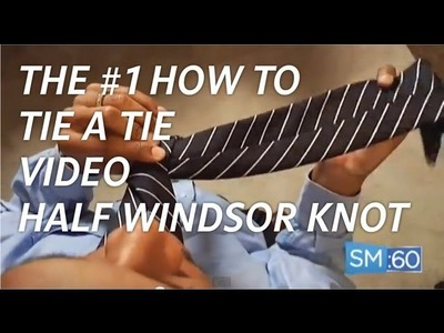 BEST How To Tie A Tie Video - Overhead Camera Angle - Half Windsor Knot (Ep 021)