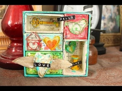 Christy Tomlinson Mixed Media Collage Video: December 2013 MM kit!