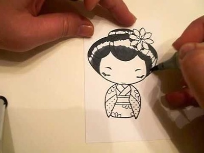Coloring Black Hair with Copic Markers - For SMScrapper