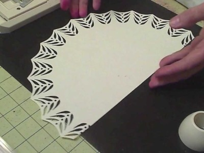 Creating a semi-circle dollie with scraps using the Martha Stewart Cicle Punch