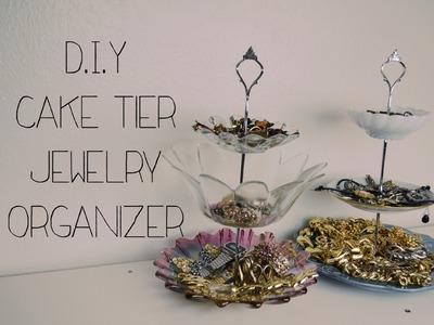D.I.Y Cake Tier Jewelry Organizer