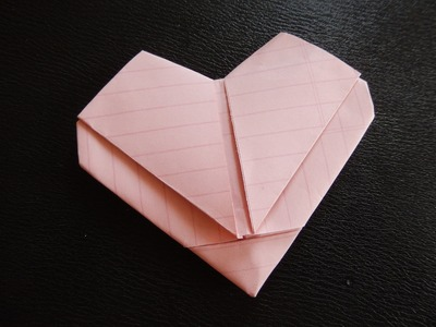Day 17 How to Make Heart (out of regular size paper)