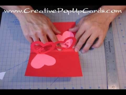 Easy Valentine's Day Pop Up Card Tutorial: Linked Hearts