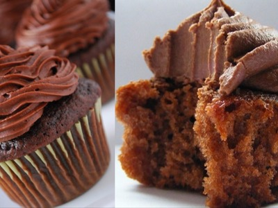 Eggless Chocolate CupCakes Video Recipe by Bhavna