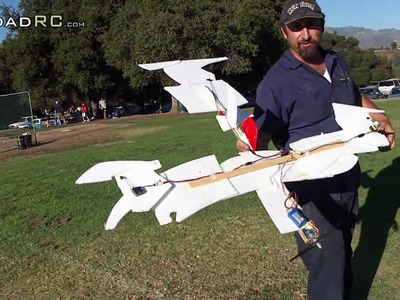 Frankenstein RC plane made out of left over foam pieces