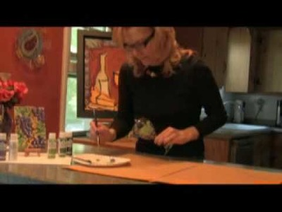 Glass painting tutorial with artist Jennifer Claire