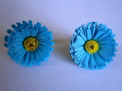 Handmade Jewelry - Paper Quilling Fringed Stud Earrings