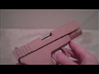 Homemade Paper. Cardboard Glock 18. 17