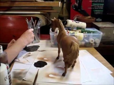 How to Airbrush a breyer (Old video)