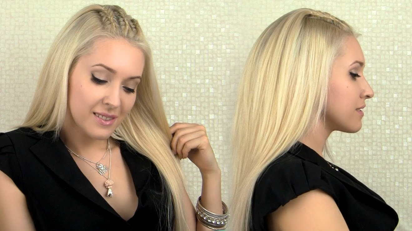 How to braid cornrows - Cute party hairstyle for medium and long hair tutorial