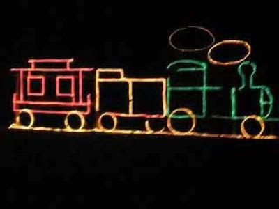 How to build a christmas light  train