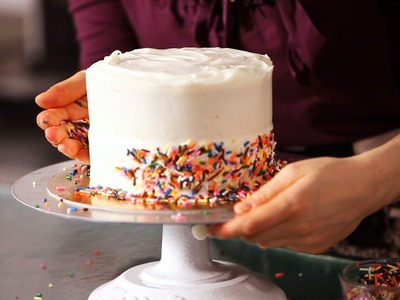 How to Decorate a Cake with Sprinkles | Cake Decorating