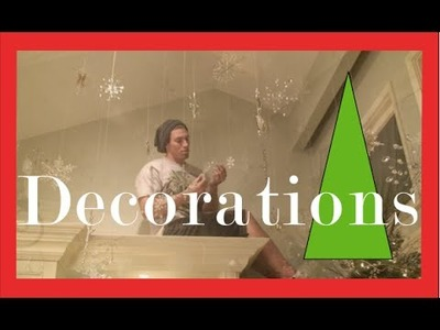 How to Hang SNOWFLAKES - Cool Illusion - Christmas Decorations and Christmas Decorating Ideas