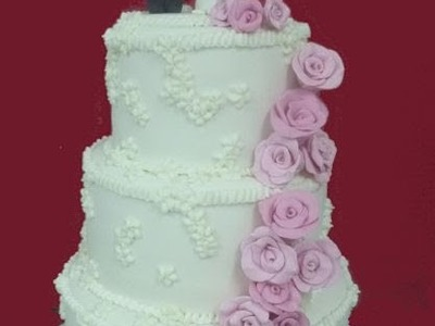 How to make a bride and a groom with fondant and a wedding cake