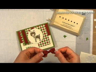 How to Make a Christmas Card Using Stampin' Up!'s No Peeking Stamp Set