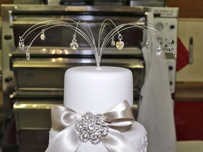 How to make a crystal drop cake topper