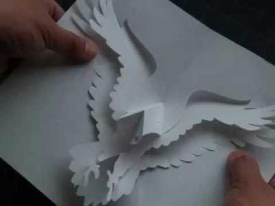 How to Make a Kirigami Eagle Pop-up Card