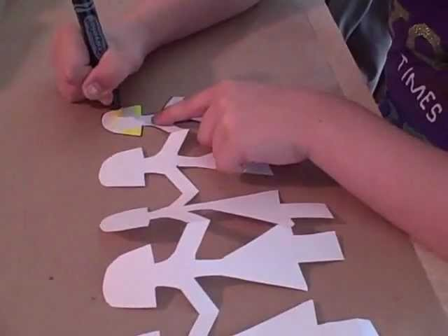 How to Make a Paper Doll Chain