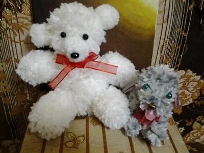 How to make a Pom Pom and a teddy bear out of Pom Pom