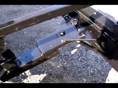 How to make home made garden tractor back blade plow