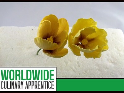 How to make Sugar Paste Tulips-Sugar Paste Flowers - Wedding Cakes Decoration - Pastry School