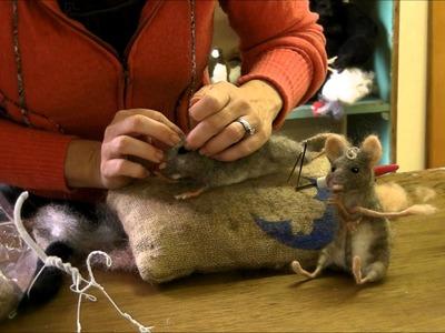 How To Needle Felt - Mouse Series 7:  Finishing