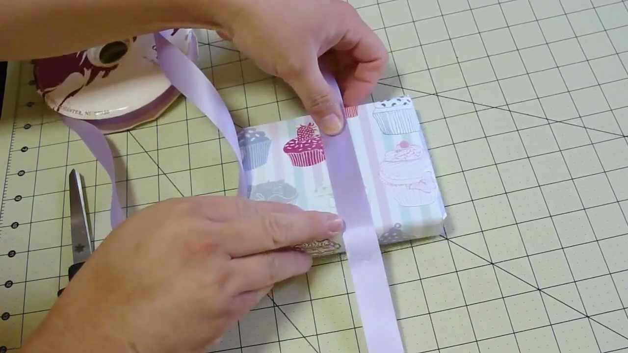 How to tie a Ribbon around a box or gift (tutorial)
