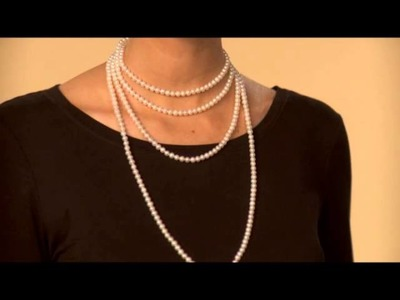 """How to Wear Your 80"""" Pearl Endless Necklace"""