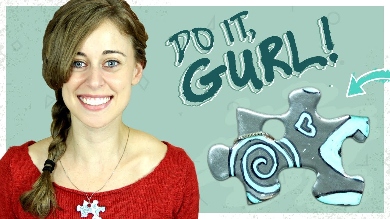 Jigsaw Puzzle BFF Necklace - Do It, Gurl